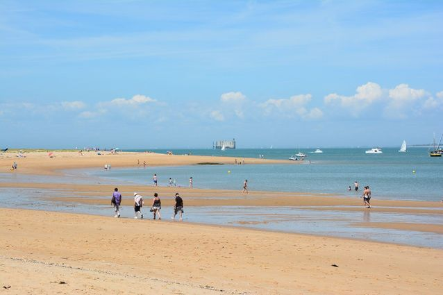 La plage de Boyardville, aux longueurs interminables.