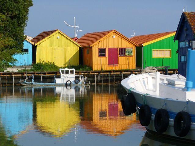 Le village d'artistes, aux maisons pittoresques.