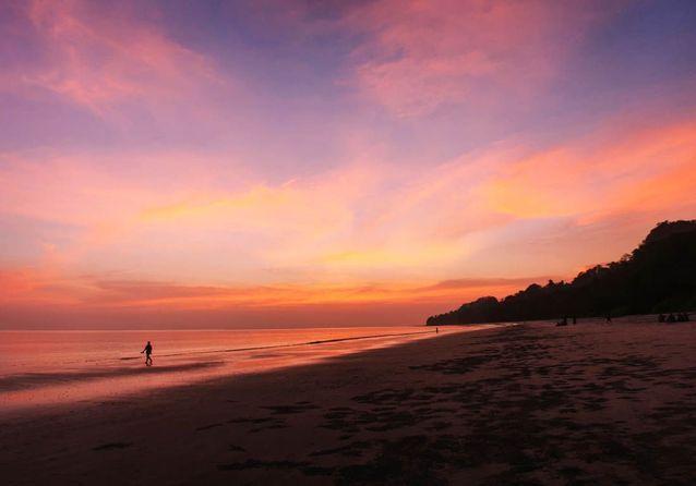 Un coucher de soleil sur l'île de Havelock.