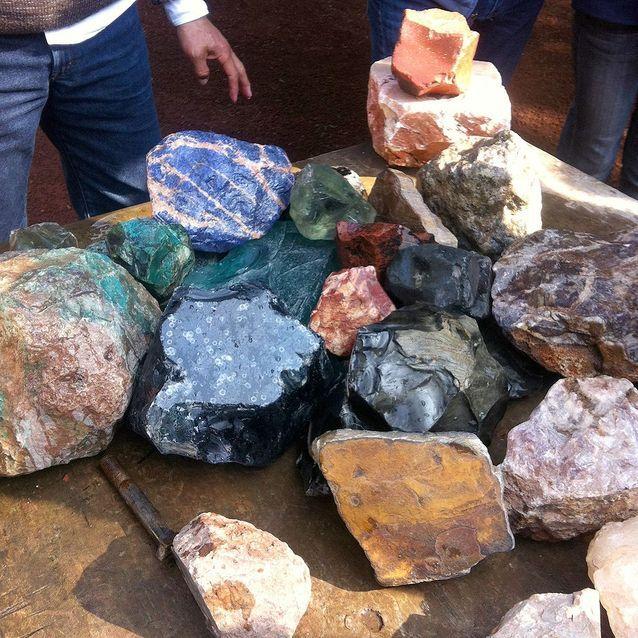Des pierres de jade venues du Guatamela