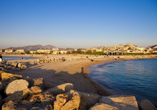 La plage du Prado