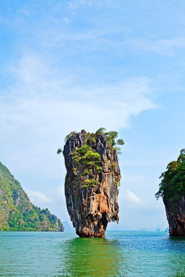 Plage Thaïlande James Bond : la baie de Phang Nga