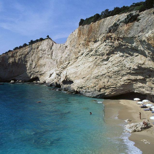 Porto Katsiki, sur l'île de Lefkada (Grèce)