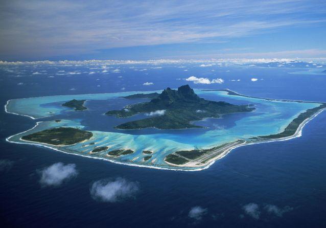 L'île de Bora-Bora, à Tahiti