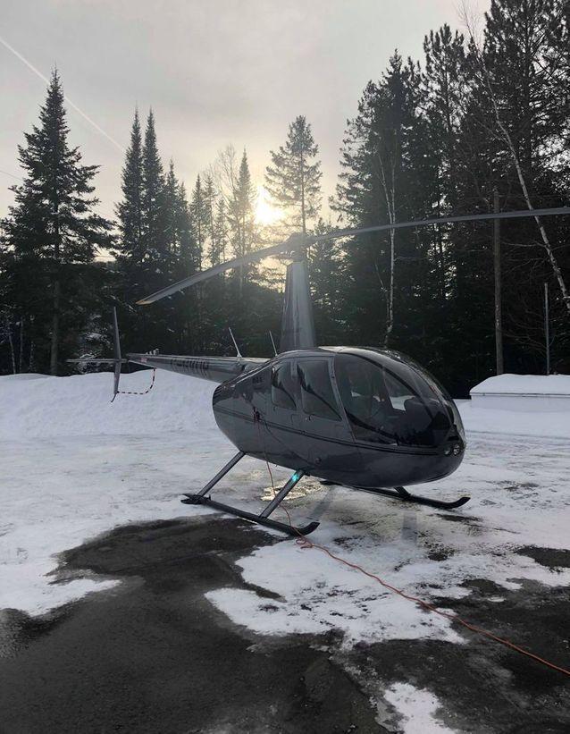 Un tour d'hélicoptère au-dessus du parc national du Mont-Tremblant (région des Laurentides)