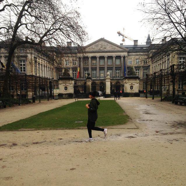 Footing dans le parc de Bruxelles