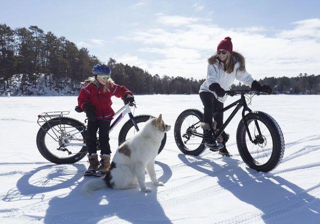 Dévaler les pistes en fat bike