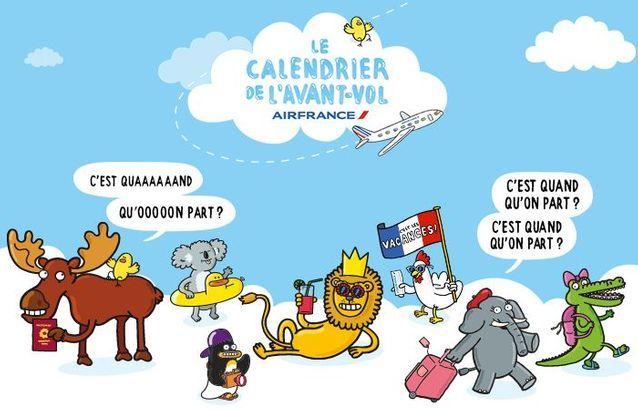 Le calendrier de l'avant-vol Air France