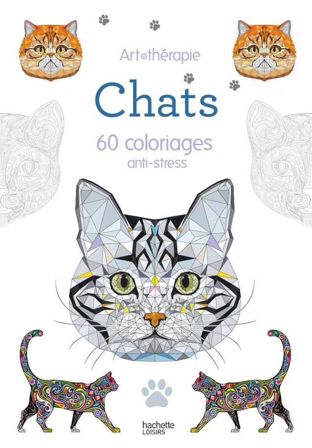 « Chats – 60 coloriages anti-stress »
