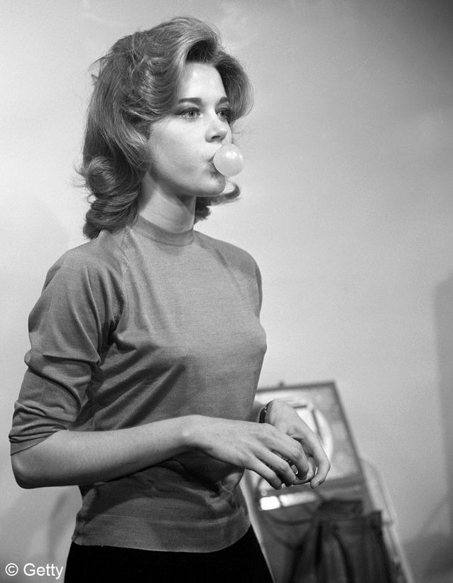 Jane Fonda a tout juste 23 ans sur cette photo