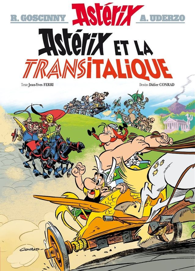 « Astérix et la Transitalique » de Jean-Yves Ferri (Editions Albert René)