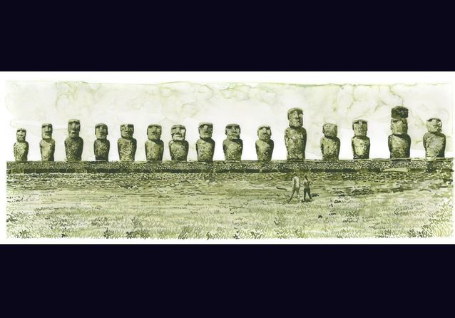 Travel Book Vuitton Ile de Paques  P 108 Easter Island, Ahu Tongariki