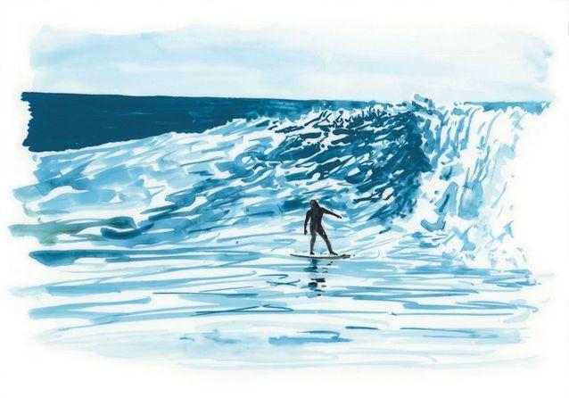 Travel Book Vuitton Ile de Paques  P 9 Easter Island, Surfer