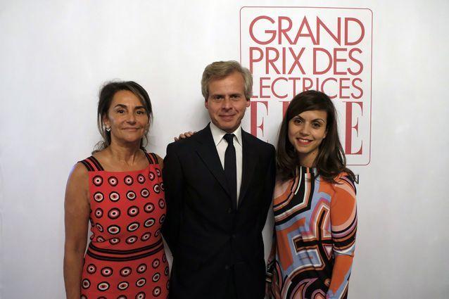 Constance Benqué (ELLE), Laurent Boillot (Guerlain) et Véronique Cardi (Lauréate Prix Guerlain et Directrice du Livre de poche)