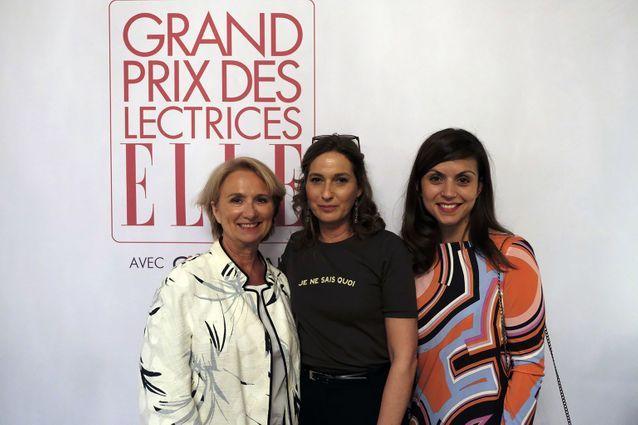 Elisabeth Sirot (Guerlain), Olivia de Lamberterie (ELLE) et Véronique Cardi (Lauréate Guerlain et  Directrice du Livre de poche)