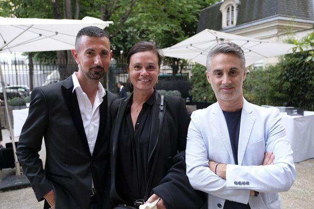 Guillaume Robert (Flammarion), Nathalie Dupuis et Edouard Dutour (ELLE)