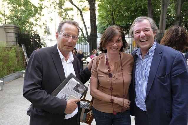 Jean-Paul Hirsch (P.O.L), Ariane Chemin et Jérôme Garcin