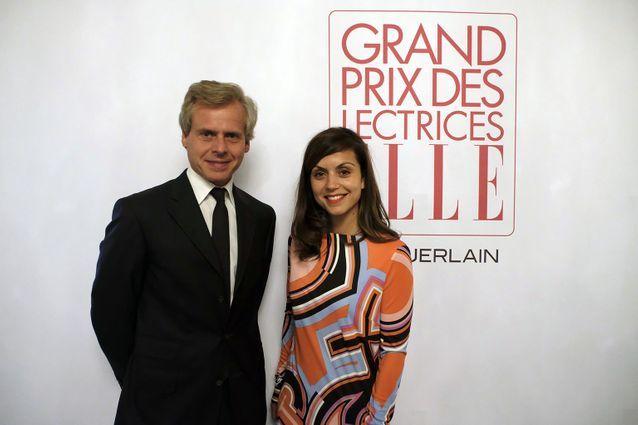 Laurent Boillot (Guerlain) et Véronique Cardi (Lauréate Prix Guerlain et Directrice du Livre de poche)