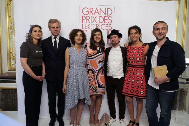 Olivia de Lamberterie, Laurent Boillot (Guerlain), Leïla Slimani, Véronique Cardi, Mathias Malzieu, Constance Benqué et Olivier Norek