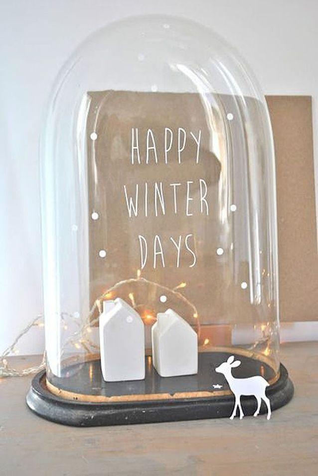 Activité manuelle d'hiver une cloche décorative