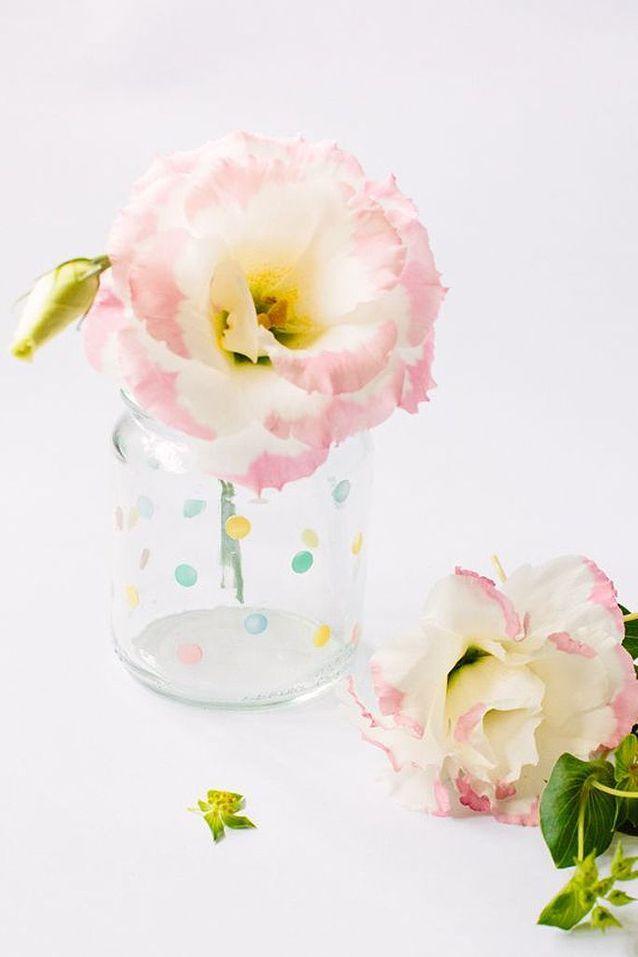 Activité manuelle d'hiver vase à pois