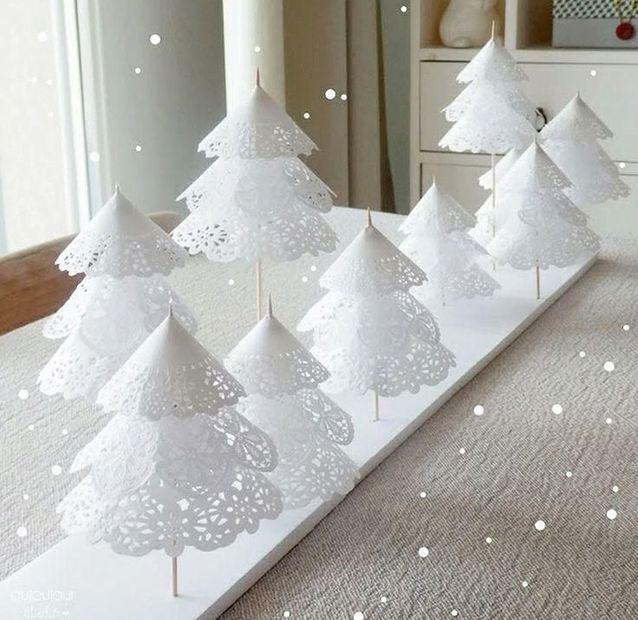Diy Noel.Décoration De Noël Diy En Napperon 20 Décorations De Noël