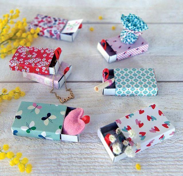 Emballage cadeau avec des boites d'allumettes