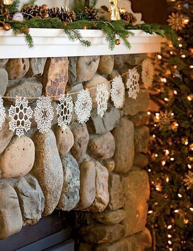 Guirlande Noël à faire soi-même en crochet