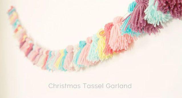 Guirlande Noël en laine