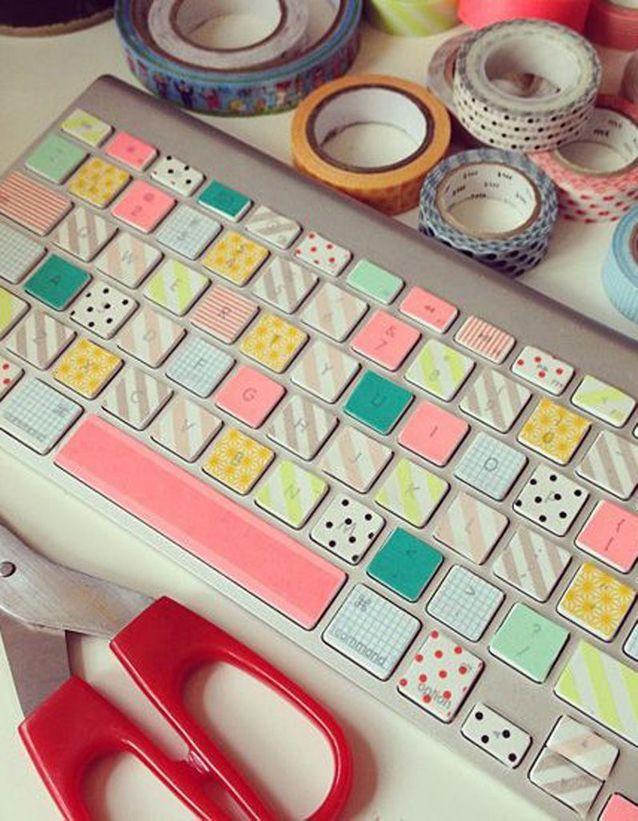 Masking tape clavier d'ordinateur