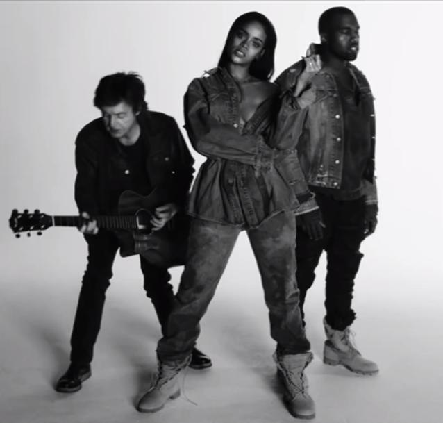 « FourFiveSeconds » de Rihanna, feat. Kanye West et Paul McCartney