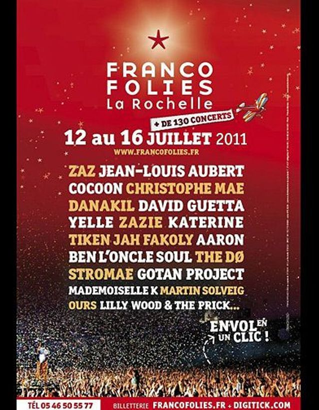 Loisirs culture festival ete musique les francofolies de la rochelle