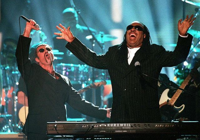 Avec Stevie Wonder