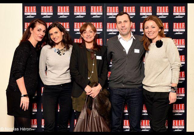 Jeanne Paillet, Audrey Chastanet, Séverine Petit, Fabrice Guillemain et Nathalie Félix (Lagardère Publicité).