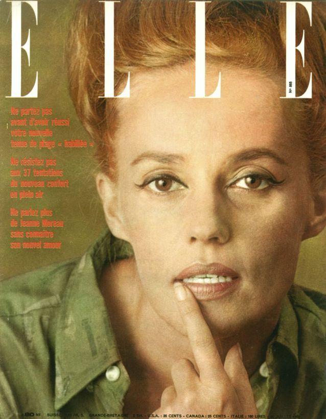 Jeanne Moreau pour ELLE, en 1962