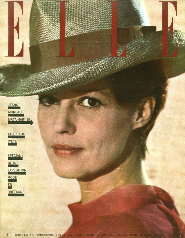 Jeanne Moreau pour ELLE, en 1963