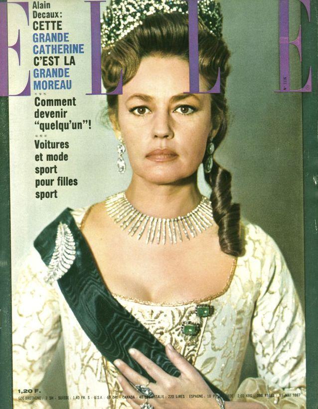 Jeanne Moreau pour ELLE, en 1967