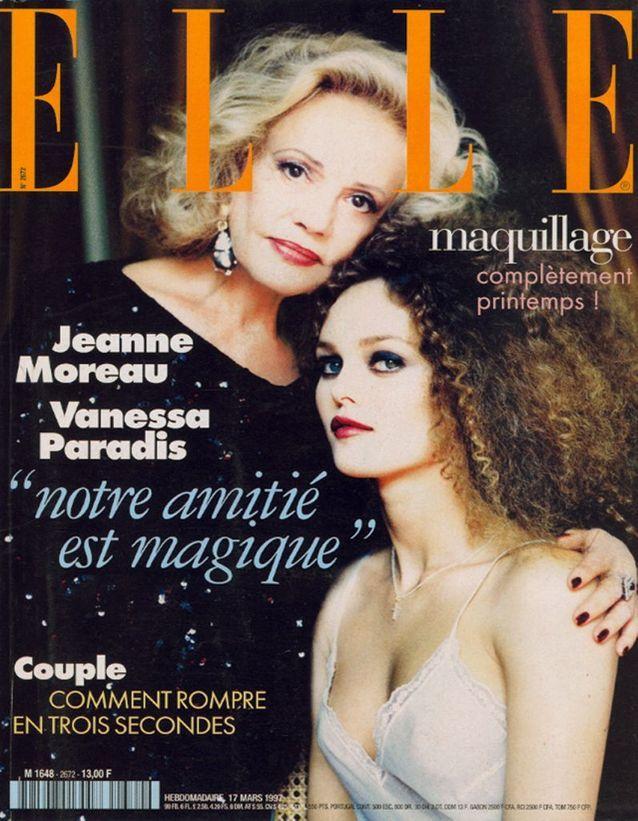 Jeanne Moreau pour ELLE, en 1997, avec Vanessa Paradis