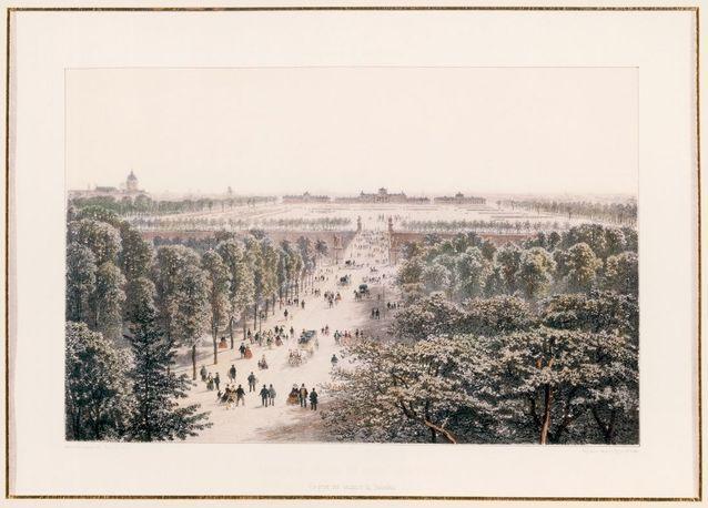 Vue du Champ de Mars et de l'école militaire avant la construction de la tour Eiffel