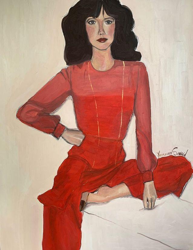 Portrait de Sylvia Kristel, par Vanessa Seward, d'après une photo de R. Haussaire parue dans « L'Officiel », en 1976