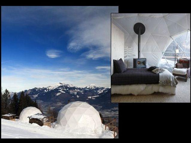 Suisse : week-end romantique en igloo, à 1700m d'altitude