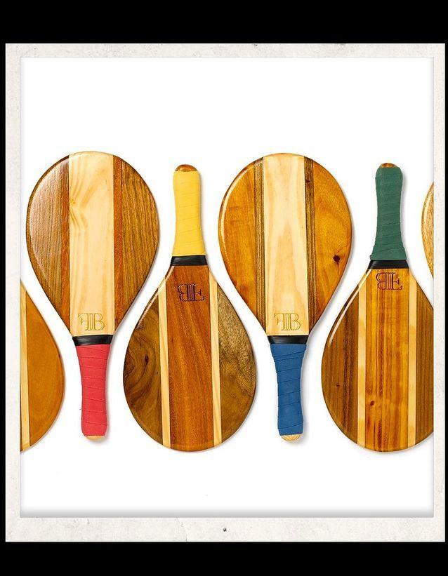 Frescobol raquettes en bois