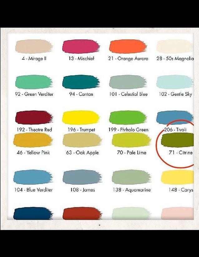 Peinture 160 couleurs