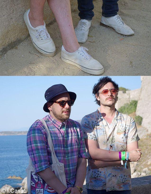 Guillaume Brière et Benjamin Lebeau, du groupe The Shoes