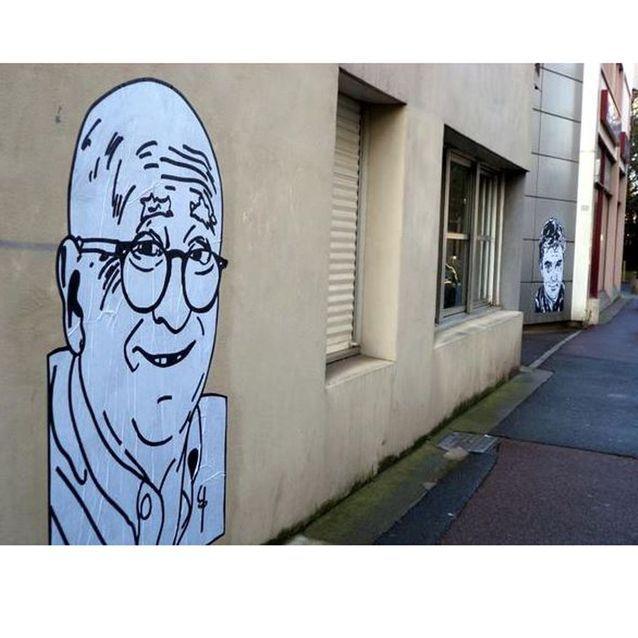 Hommage au dessinateur Wolinski à la Roche-sur-Yon