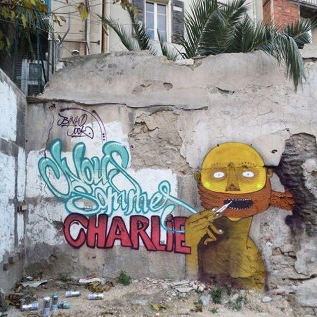 L'oeuvre de l'artiste Joke à Marseille