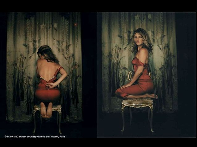 People exposition ktae moss Mary McCartney Kate In Red Dress 2004 montage