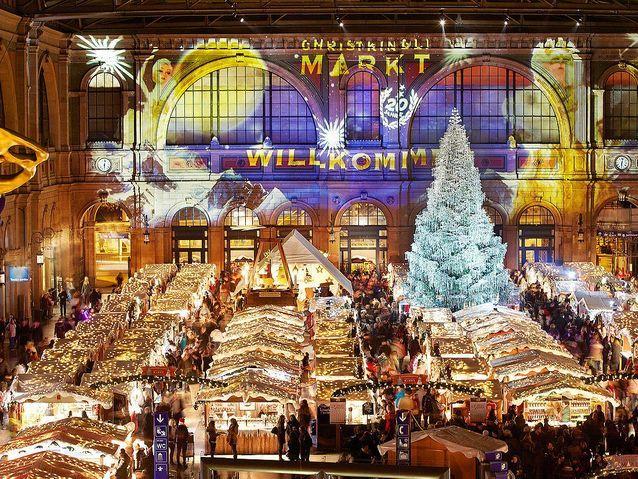 Le plus couvert : le marché de Noël de Zurich