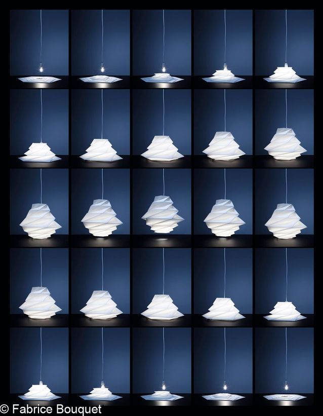 Les lampes aérienne d'Issey Miyake