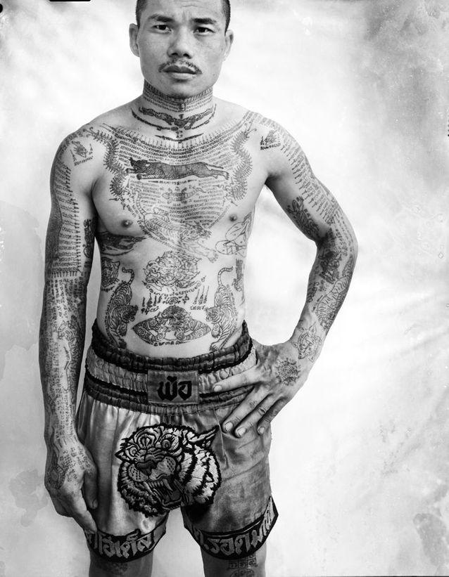Yantra: Muay, boxeur thaï, à Bangkok.